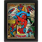 Posters: Spider-Man 3D-Posters (framed) - With Great Power Comes Great Responsibility (10 x 8 inches)