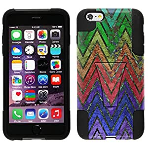Trek Hybrid Stand Case for Apple iPhone 6 Plus - Retro Rainbow Chevron