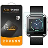 [2-Pack] Fitbit Blaze Tempered Glass Screen Protector, (Full Screen Coverage) Supershieldz Anti-Scratch, Anti-Fingerprint, Bubble Free, Lifetime Replacement Warranty