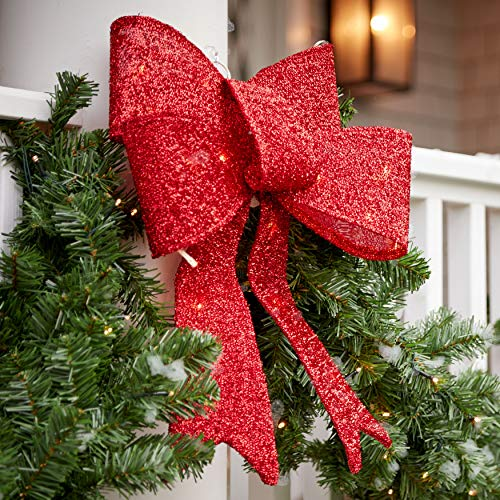 Light Up Christmas Bow Outdoor in US - 5