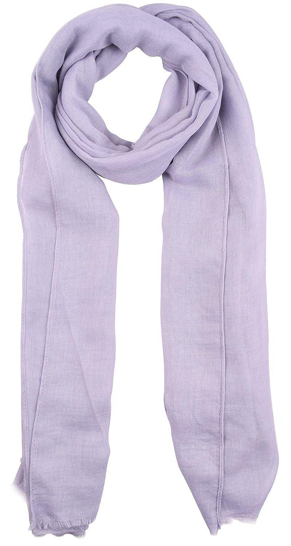Amorismo Mujer Bufanda Moda Color Sólido de Algodón de Cáñamo Rectángulo 190 * 94CM en 16 Colores A-Scarves1-Blue-CS