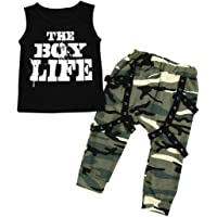 Allence Baby Kleidung, Kids Baby Jungen Outfits Set Letter T Shirt Tops+Camouflage Shorts