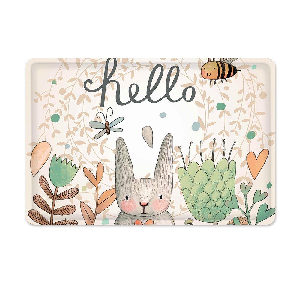 Amazon.com: Mayshine Non-slip Bath Mat Sweet Bunny honeybee Soft ...