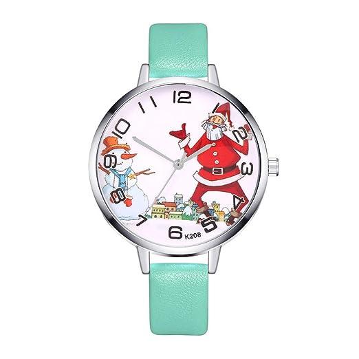 Navidad Relojes Pulsera, Cuarzo analógico Deportes Mujeres Reloj de Pulsera QINGXIA_ZI: Amazon.es: Relojes
