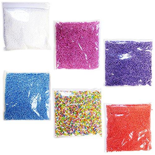 Styrofoam Bead Variety Pack (6), Styrofoam Balls, Arts & Crafts Supplies, Filler Beads for DIY Decorations -