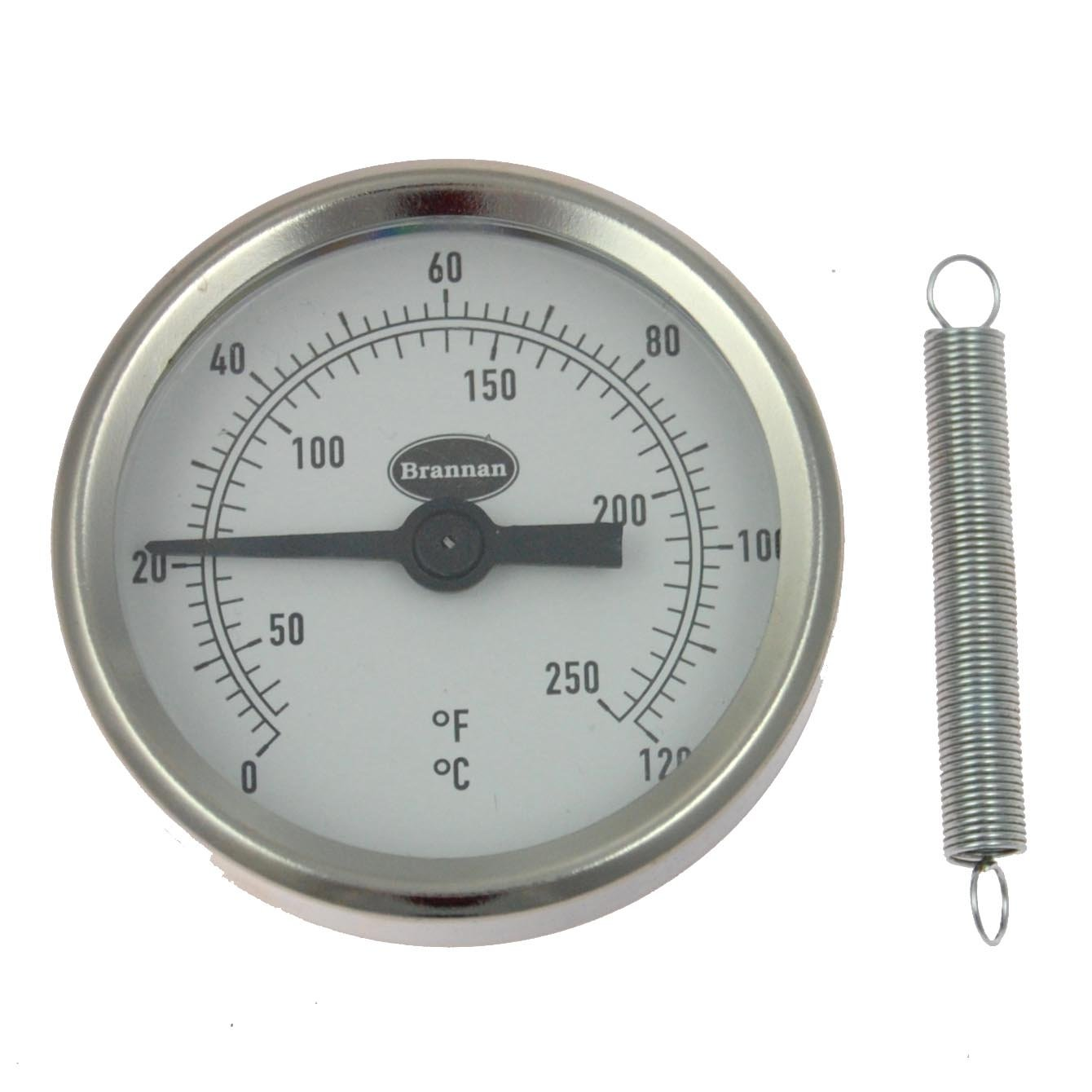 Clip-on pipe thermometer / hot water pipe thermometer Brannan