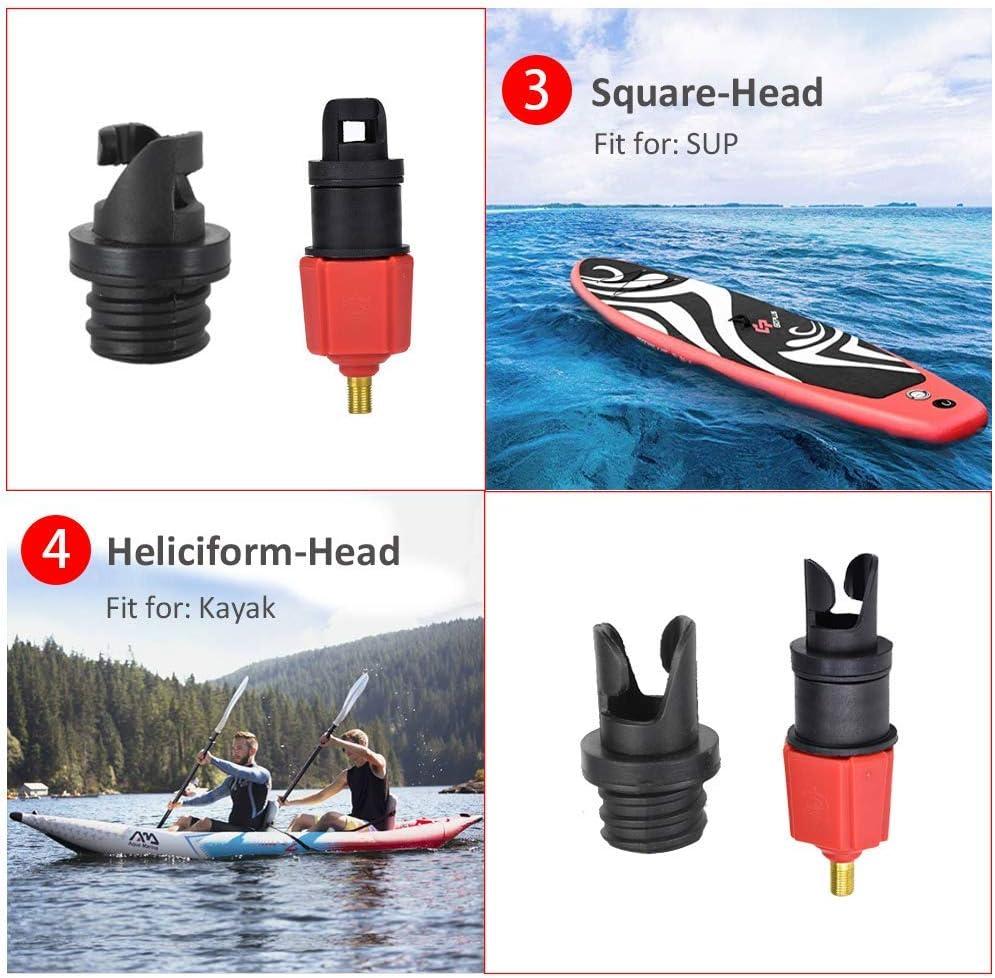 SUNIY Air Valve Adaptor Multifunction Air Pump Valve Adapter Inflatable SUP Schrader Valve Adapter Accessories Air Pump Converter for Valves Kayak Inflatable Boat Raft Foot Pump Electric Pump