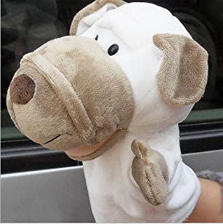 EEvER Giocattoli educativi delle Marionette da Dito Burattini di Peluche a Forma di Coccodrillo Morbido Peluche di Animali a Cartone Animato per Bambini Adulti Gioca a Toy Story Story (Cane Bianco)