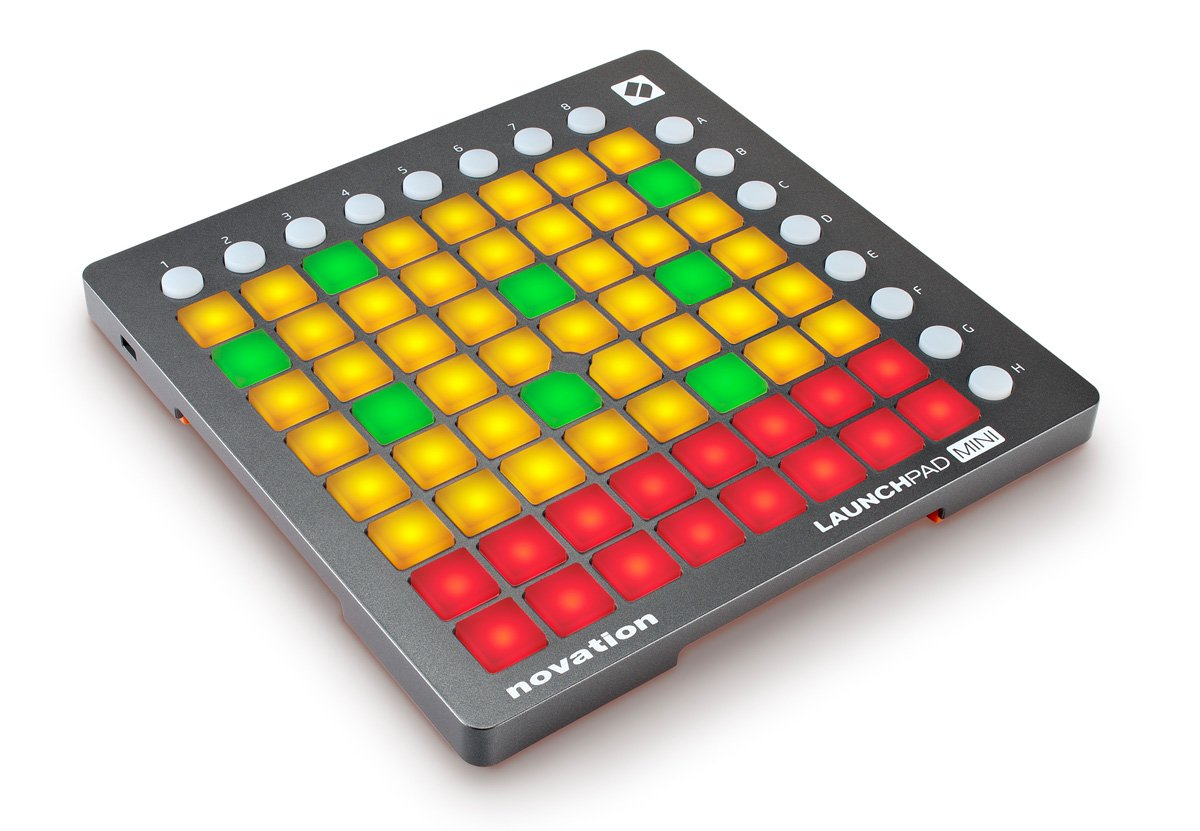 Novation Launchpad Mini USB Midi Controller for Performing and Producing Music with iPad, Mac and PC by Novation