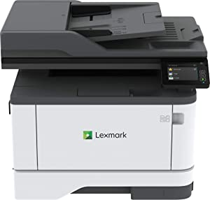 Lexmark MB3442adw Multifunction Monochrome Laser Printer with Print, Copy, Fax, Scan and Wireless Capabilities with Full-Spectrum Printing and Printers up to 42 ppm (29S0350), Gray/White, Small