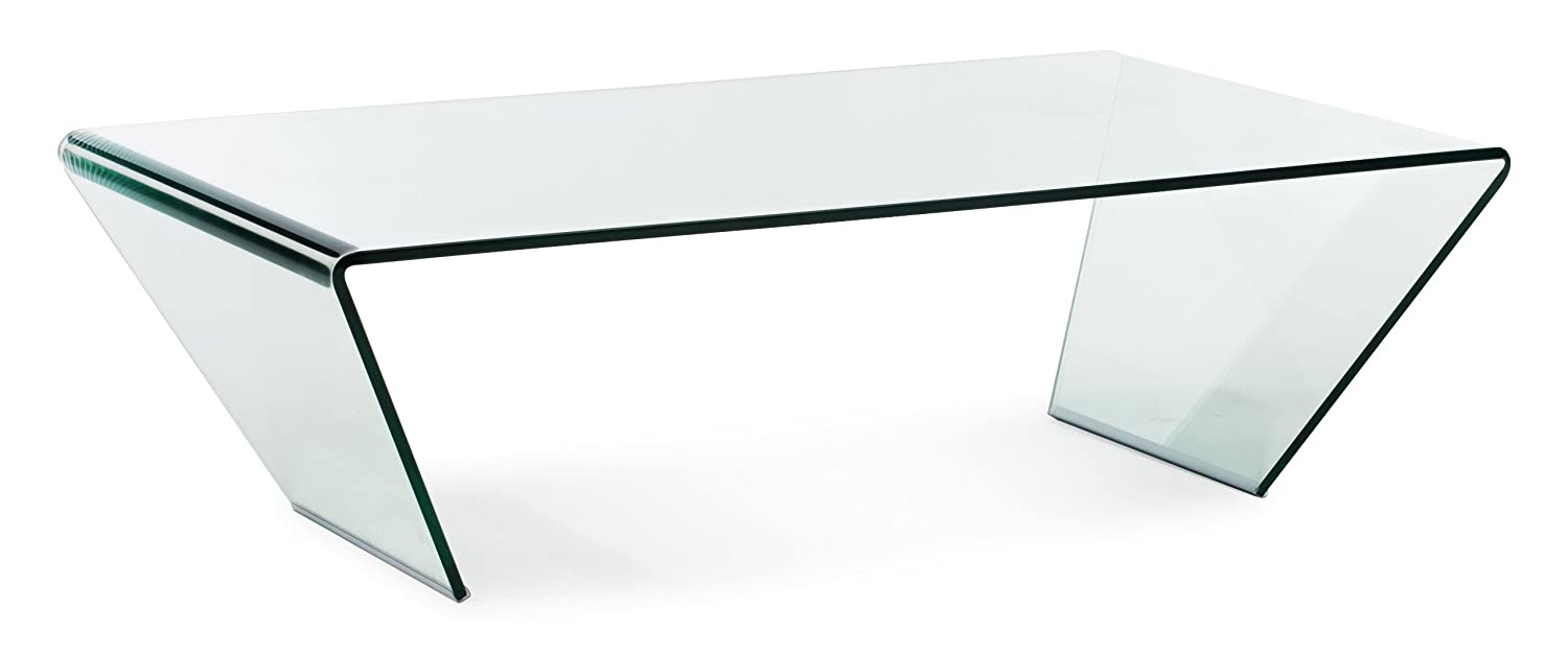 amazoncom zuo modern migration coffee table clear kitchen  dining -