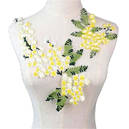 Embroidery Flower Collar Neckline Applique Sewing Patches Craft Lace Trim