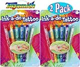 Toysmith Ink-a-Do Shimmery Tattoo Pens Bundle - 2 Pack
