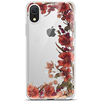 coque iphone xr silicone transparente motif