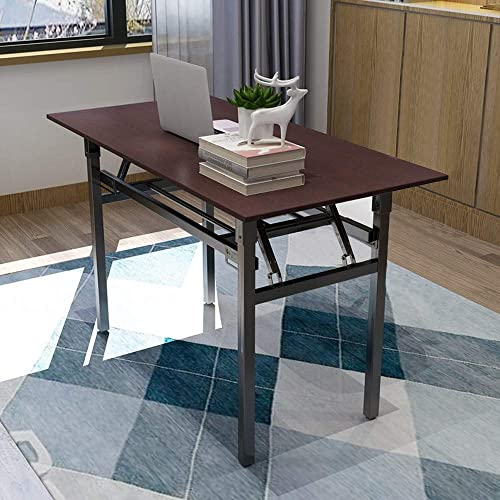 Folding Home Office Desk, VECDUO 47 Modern Simple Writing Computer Table for Study Meeting, No Install Needed