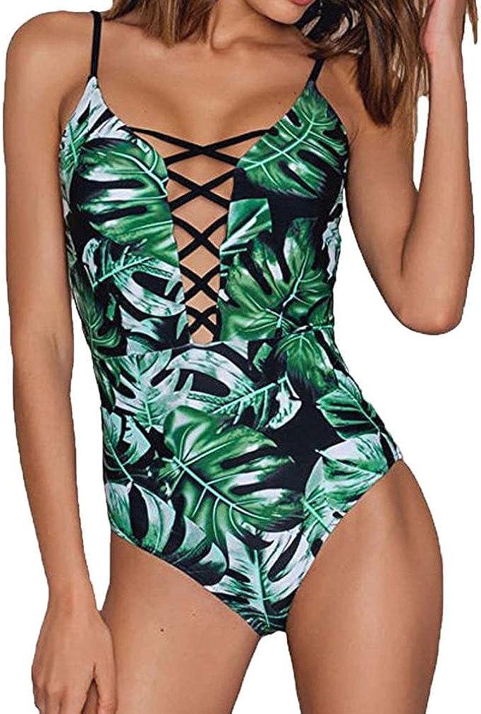 SHOBDW 2020 Moda Mujer De Una Pieza De Traje De Baño Push-Up Bra De Impresión Baño Bañador Traje Bikini Bañadores De Mujer Tallas Grandes: Amazon.es: Ropa y accesorios