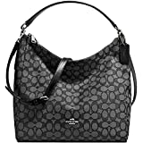 New Authentic Coach New York 'Outline Signature Celeste' Hobo & Crossbody in Black & Smoke Gray