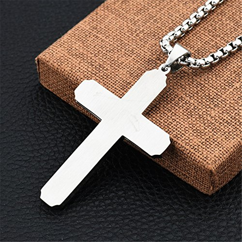 154daa7302c1 mcsays Hip Hop joyería creativa Hollow Cruz colgante 70 cm redondo caja  cadena colgante religiosa de