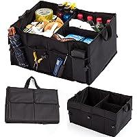 Kofferraumtasche, Auto Kofferraumtasche, Kofferraum Organizer, Faltbare Autotasche Aufbewahrung Taschen mit 8 zusätzlichen Taschen für Auto, Kofferraum, Minivan, SUV Lagerung, Haltbar und wasserdicht