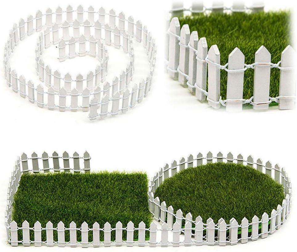 KINJOHI Miniatur Zaun Garten Dekor DIY Fee Garten Kit Holz Zaun Zubeh/ör