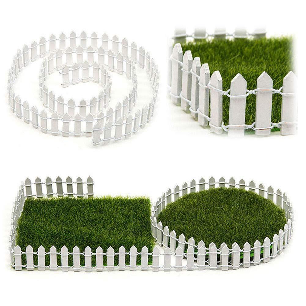 Delleu Miniatur Zaun Garten Dekor DIY Fee Garten Kit Holz Zaun Zubeh/ör