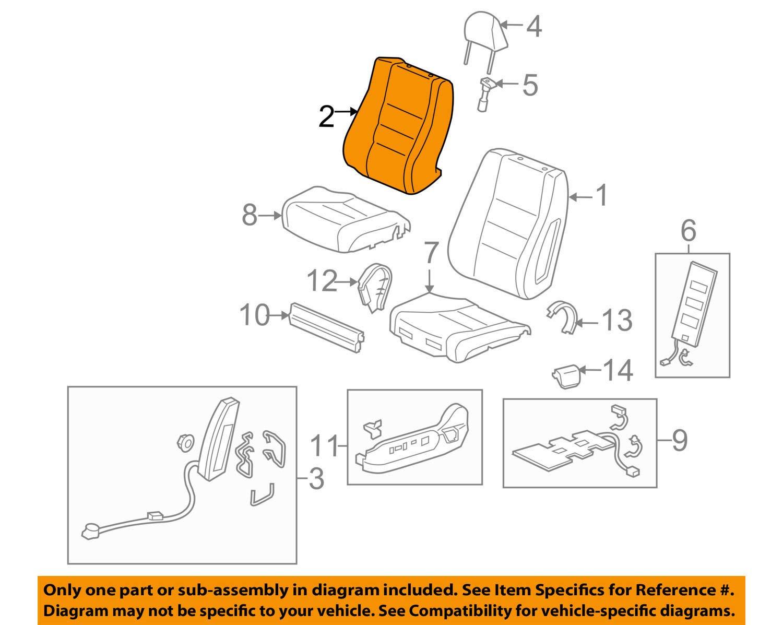 Honda Genuine 04815-TP6-A02ZA Seat Trim Cover Set Left Front