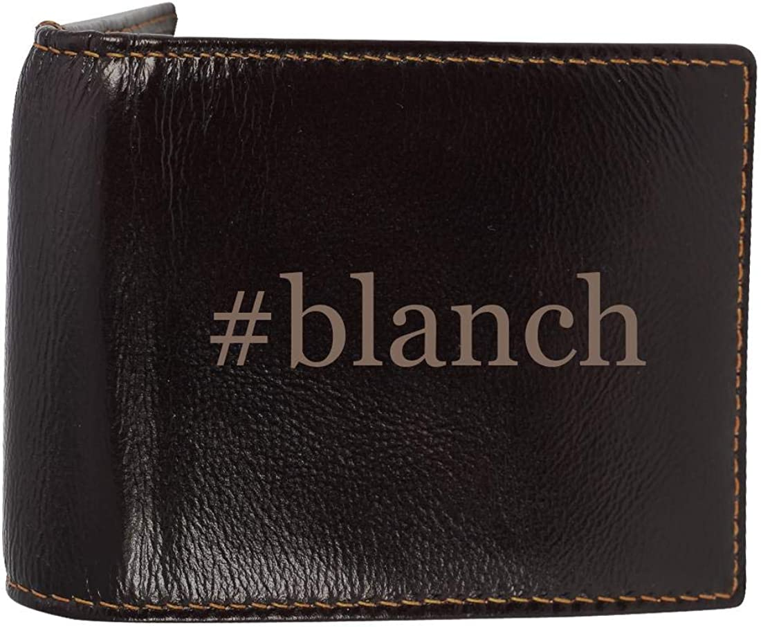 #blanch - Genuine Engraved Hashtag Soft Cowhide Bifold Leather Wallet