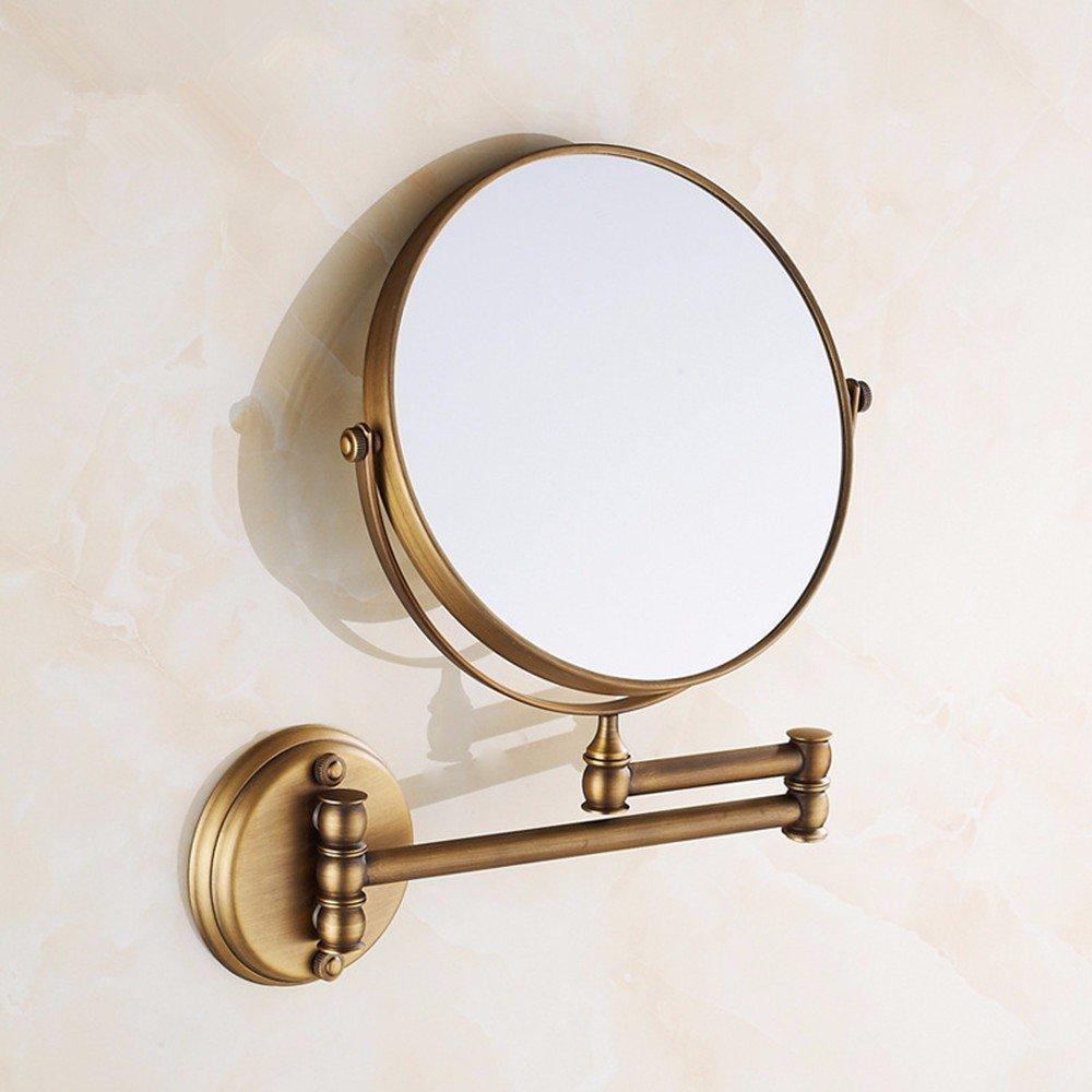 ZYZX Antigüedades Europeas Espejo Plegable Espejo de vanidad Báscula Espejo de Maquillaje para Montaje en Pared de 8 Pulgadas: Amazon.es: Hogar