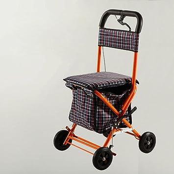 Carritos de la compra para las personas mayores a comprar hierro ocio Compras puede mano plegable bicicleta plegable carro de compras de comestibles ...
