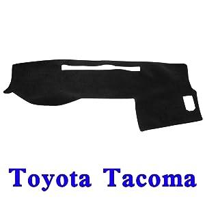 JIAKANUO Auto Car Dashboard Dash Board Cover Mat Fit for Toyota Tacoma 2005-2015(Tacoma 05-15, Black MR-035)