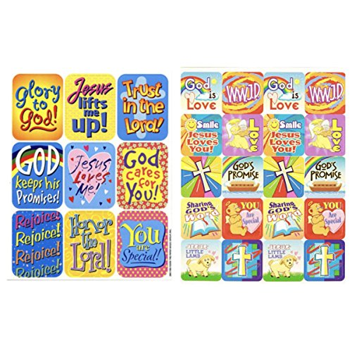 (156 RELIGIOUS Inspirational Stickers - VACATION Bible School VBS Education CHRISTIAN Christ JESUS CRAFTS Scrapbooking - Party)