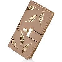 PARADOX (LABEL) Girls Leaf Bi-fold Card Holder Womens Purse Clutch Wallet