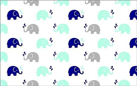 Blue//Grey EBGM2CS Bacati 2 Piece Elephants Muslin Crib Sheets