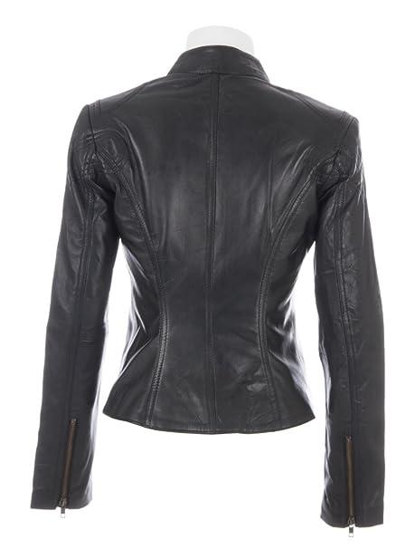 Aviatrix Veste De Motard Ultra-Elegante en Cuir veritable Super Doux Femmes  (CRD9)  Amazon.fr  Vêtements et accessoires 8bf69ce2b4e