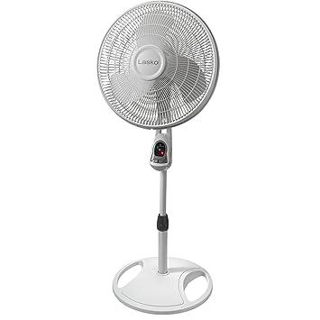 Lasko 1646 16 in  Remote Control Stand Fan, White