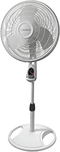 Lasko 1646 16 In. Remote Control Stand Fan, White, 1-Pack