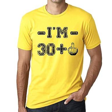 One in the City Im 30 Plus Hombre Camiseta Amarillo Regalo ...