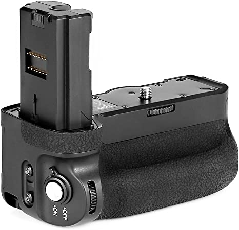 Meike MK-A9 PRO/MK-A7R-III PRO Battery Grip as VGC3EM f/Sony A9 A7RIII A7III Built-in 2.4GHz Remote Controller Up to 100M Control Shooting Vertical ...