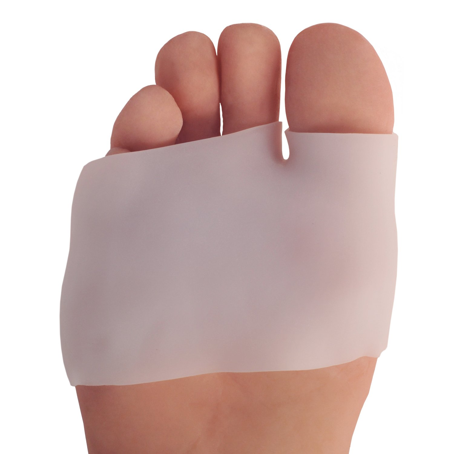 Dr. Frederick's Original Half Toe Sleeve Metatarsal Pads - Bunion & Forefoot Cushioning - 2 Pieces - Great for Diabetic Feet - Prevent Calluses and Blisters - For Men and Women