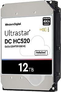 HGST WD Ultrastar DC HC520 HUH721212AL4200 12TB HDD 7200 RPM SAS 12Gb/s Interface 4Kn ISE 3.5-Inch Helium Data Center Enterprise Internal Hard Disk Drive, Model: 0F29560