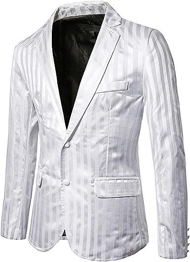 chaqueta hombre roja y blanco traje rayas