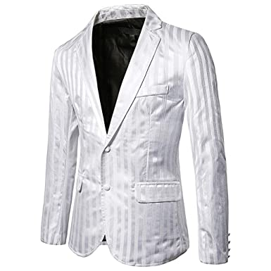Tefamore Traje Chaqueta Hombre Raya Blazer Abrigo Vestido Fiesta ...