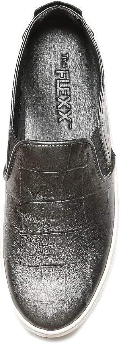 The FLEXX Women's Sneak Name Fashion Sneaker Antracite Mustang Cocco