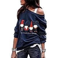 Sudadera Navidad Hombro Descubierto Mujer Jersey Navideño Feo Sudaderas Navideñas Mujer Divertido Pullover Navidad Ugly…