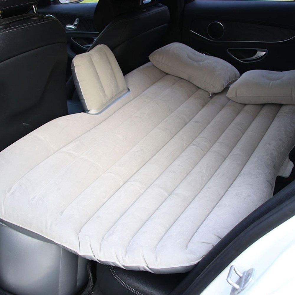 ZXQZ Aufblasbares Bett Adult Car-montiert Multi-Funktions-Luft Bett Faltbare stoßfest Reisebett Kinder Mobile Anti-Drop-aufblasbare Bett Aufblasbares Bett (Farbe : grau)