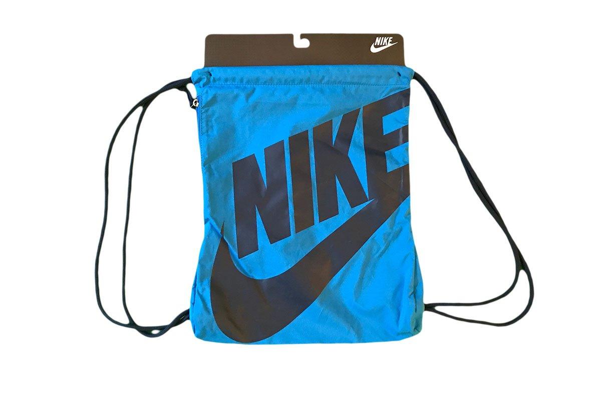 Nike Heritage Gymsack Bag Light Blue  Dark Blue Gym  Sports  School Bag   Amazon.co.uk  Sports   Outdoors be5270ebd