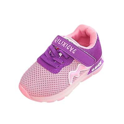 Coper Toddler Baby Boy Girl Mesh LED Light Luminous Shoes Sneakers