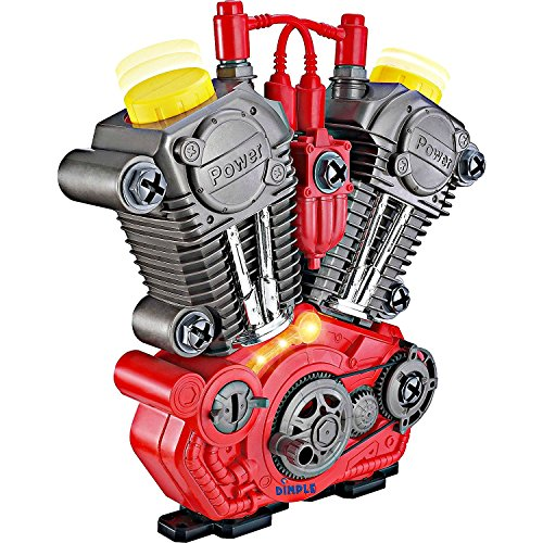 Price comparison product image Take Apart Toy Engine & Tool Set for Kids By Dimple – Build Your Own Engine With Set of 20 Tools – Educational Toy Set with Lights & Sounds - Great Gift Idea for Children All Ages - Hours of Fun!