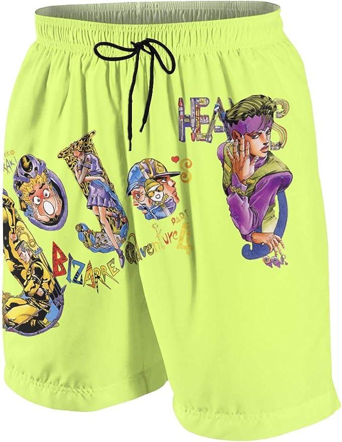 DKF JoJos Bizarre Adventure Boys Beach Pants Classic Swim Trunks,Swimwear Beach Holiday Party for Boys Men