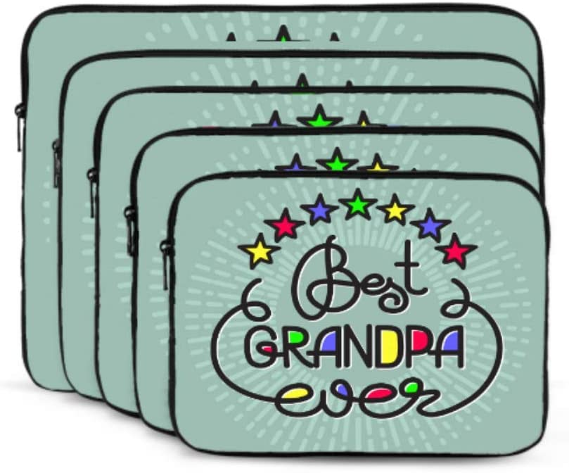 MacBook Air 13 Accessories Best Grandpa Ever Handwritten Lettering Grandparents Air Case Multi-Color /& Size Choices/10//12//13//15//17 Inch Computer Tablet Briefcase Carrying Bag